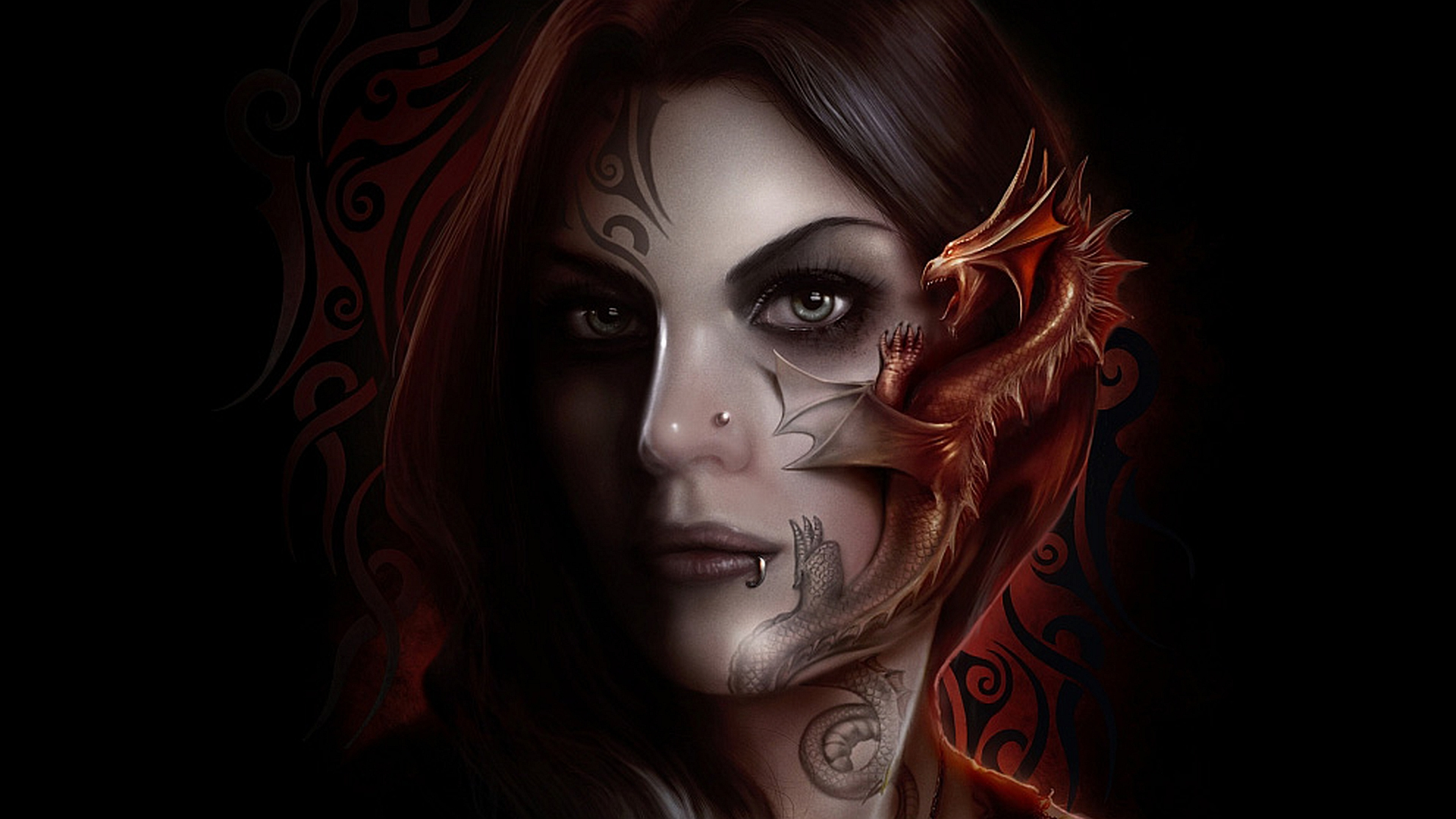 Goth Girl Wallpaper 1440x2960 Tattoo Full Hd Wallpaper And Background Image 1920x1080