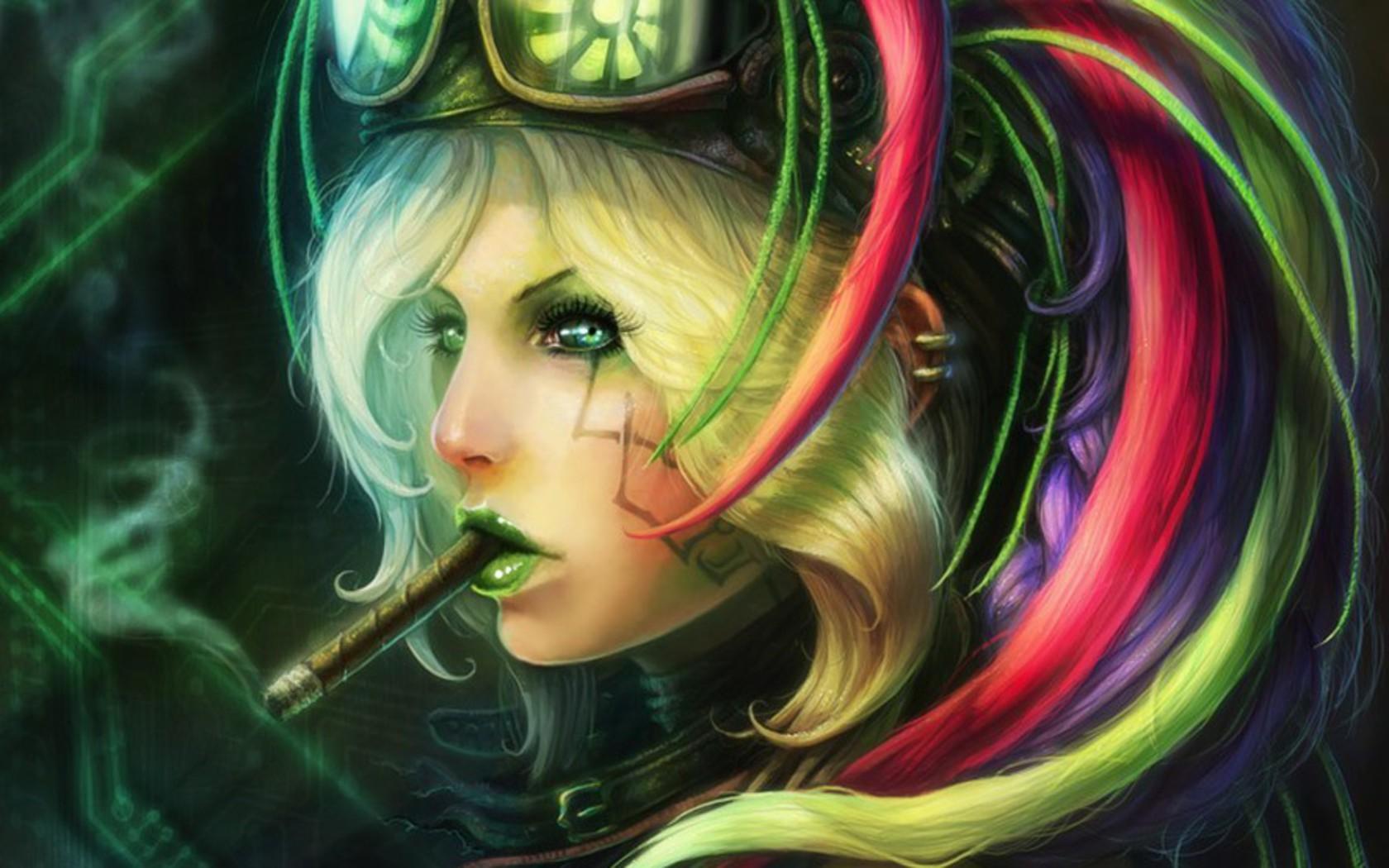 Cybernetic Girls Hd Wallpaper Steampunk Fond D 233 Cran And Arri 232 Re Plan 1680x1050 Id