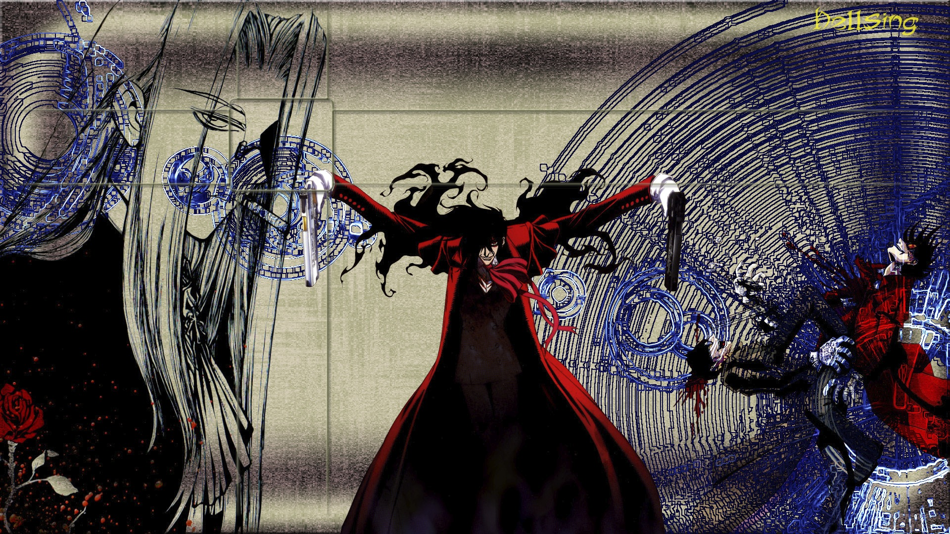 Goth Girl Wallpaper 1440x2960 Hellsing Hd Wallpaper Background Image 1920x1080 Id