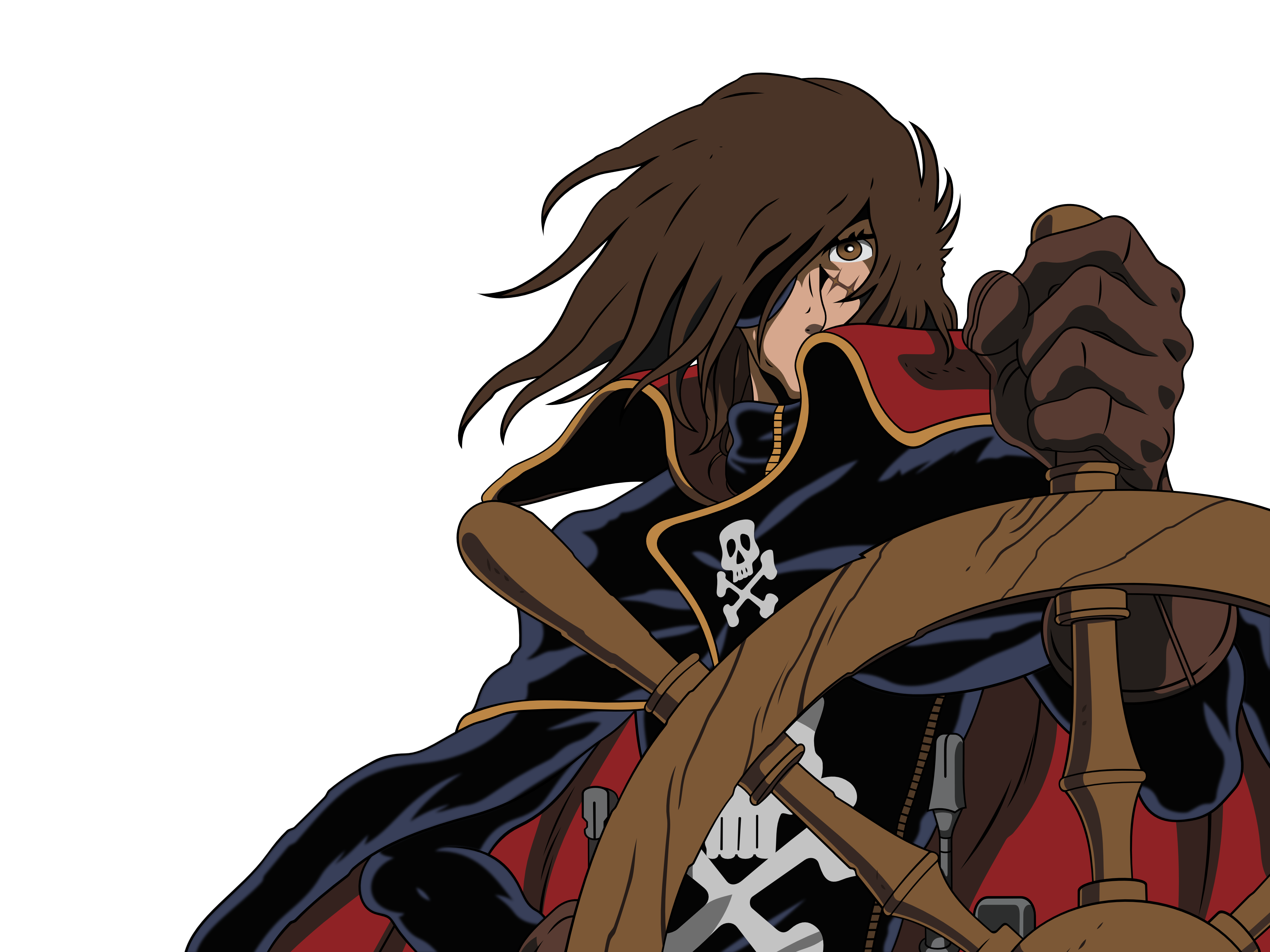Spanish Quotes Wallpaper 2 Space Pirate Captain Harlock Hd Wallpapers Backgrounds