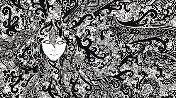 Trippy Black and White