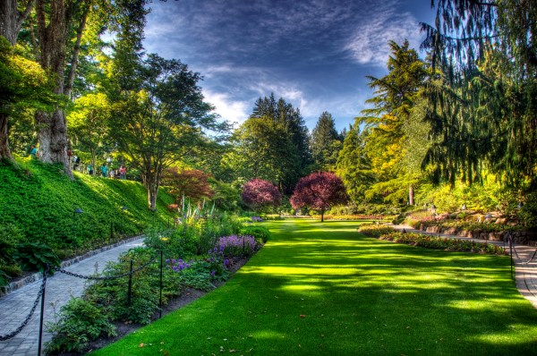 Butchart Gardens Victoria Hd Wallpaper Background