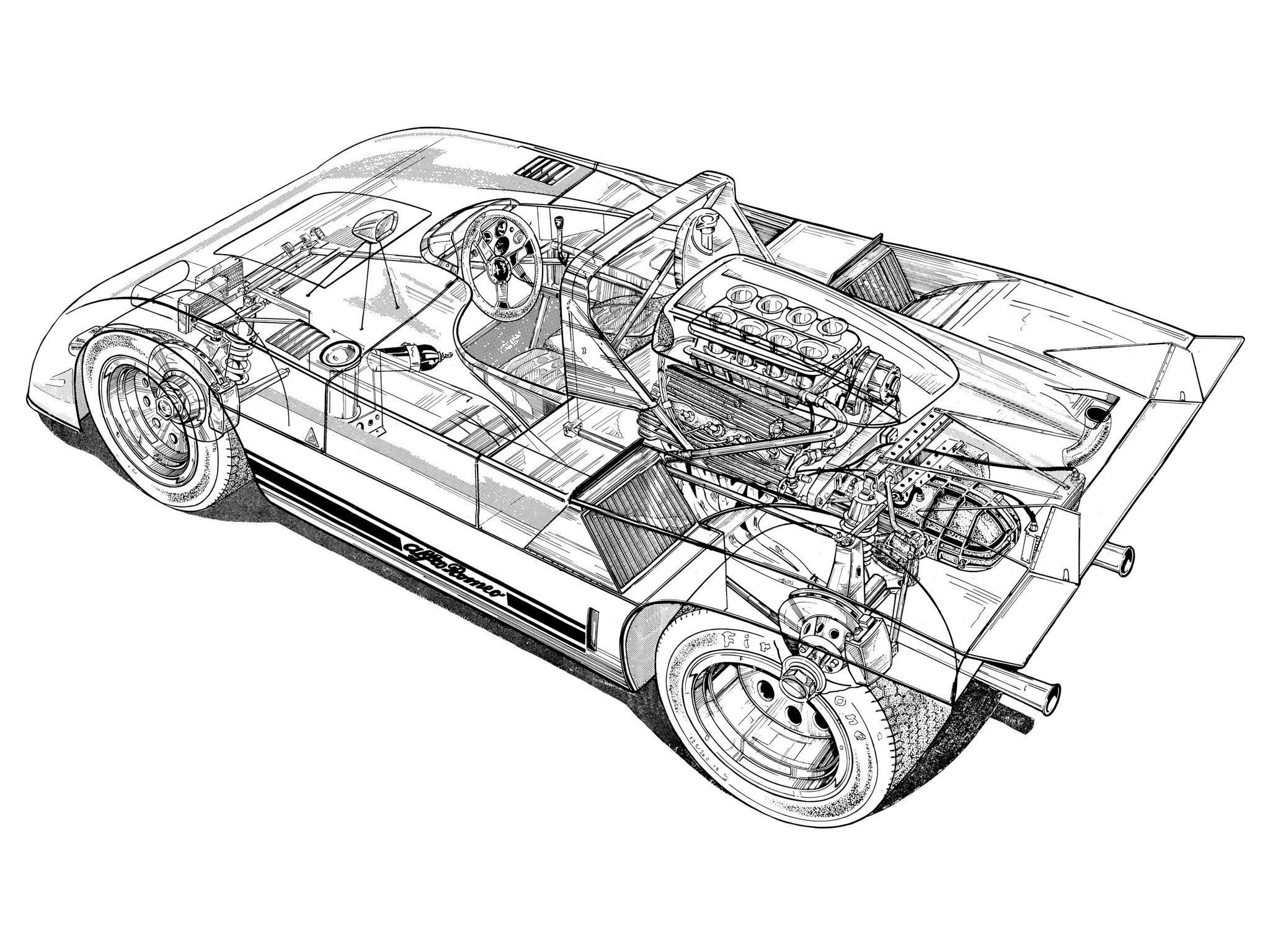Alfa Romeo Tipo 33 TT3 Spider '1971–72 HD Wallpaper