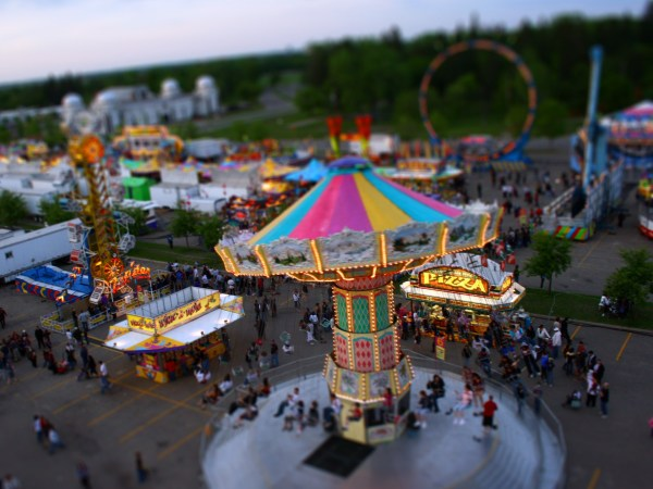 Amusement Park Tilt-Shift Photography