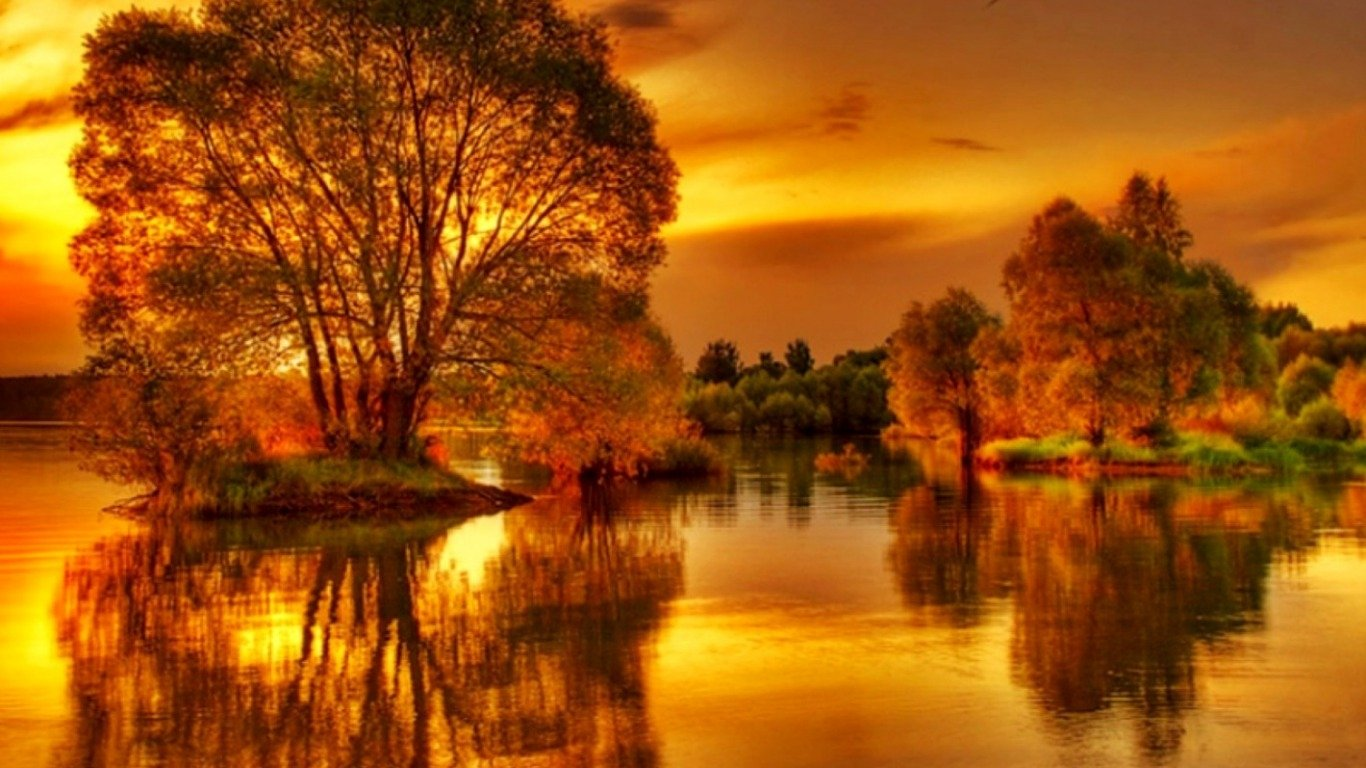 How To Use A Gif As A Wallpaper Iphone On Golden Pond Wallpaper And Background Image 1366x768