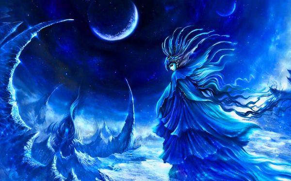 Fairies and Moon Desktop Backgrounds