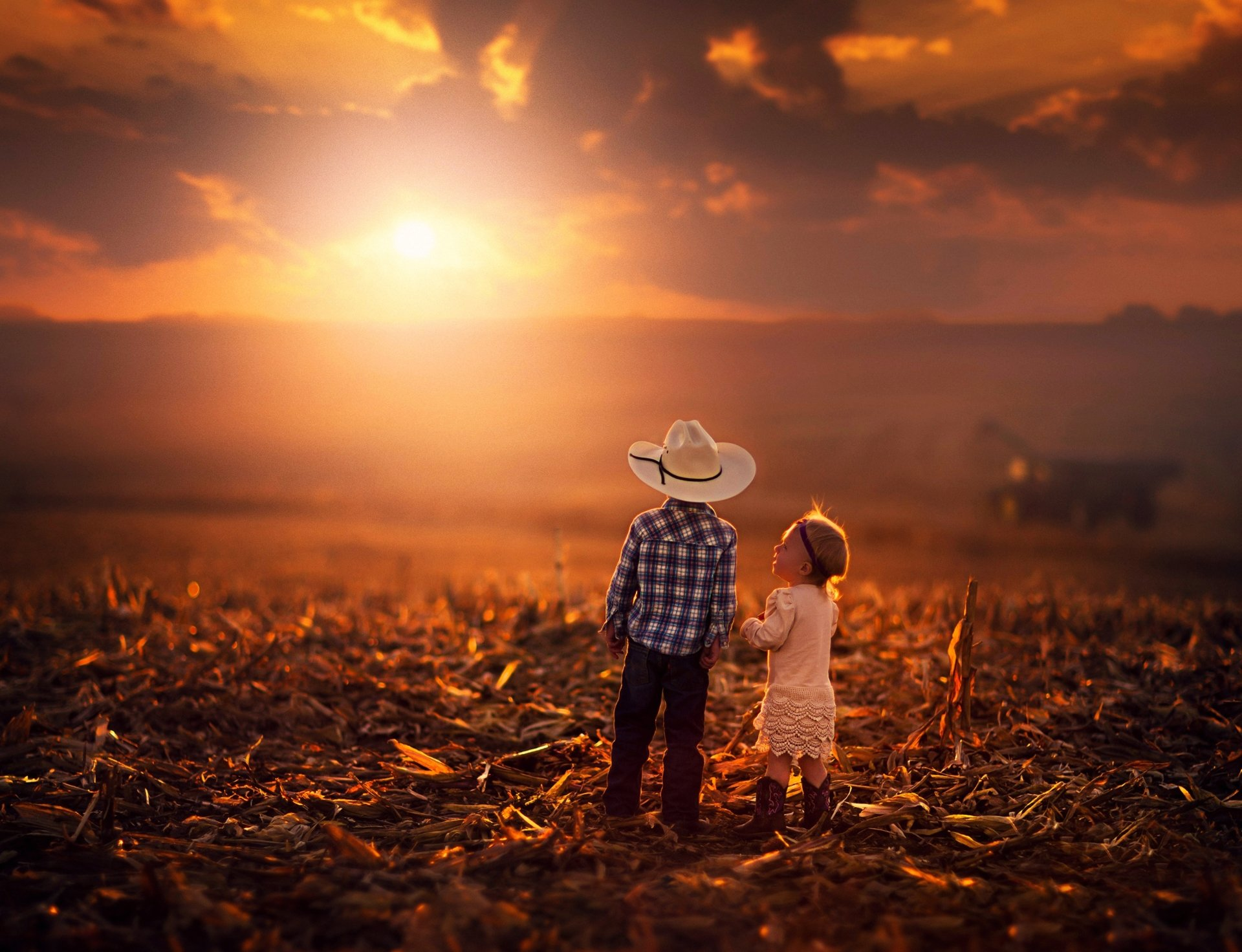 Baby Girl And Boy Love Wallpaper Kids Amp Sunset 4k Ultra Hd Wallpaper Background Image