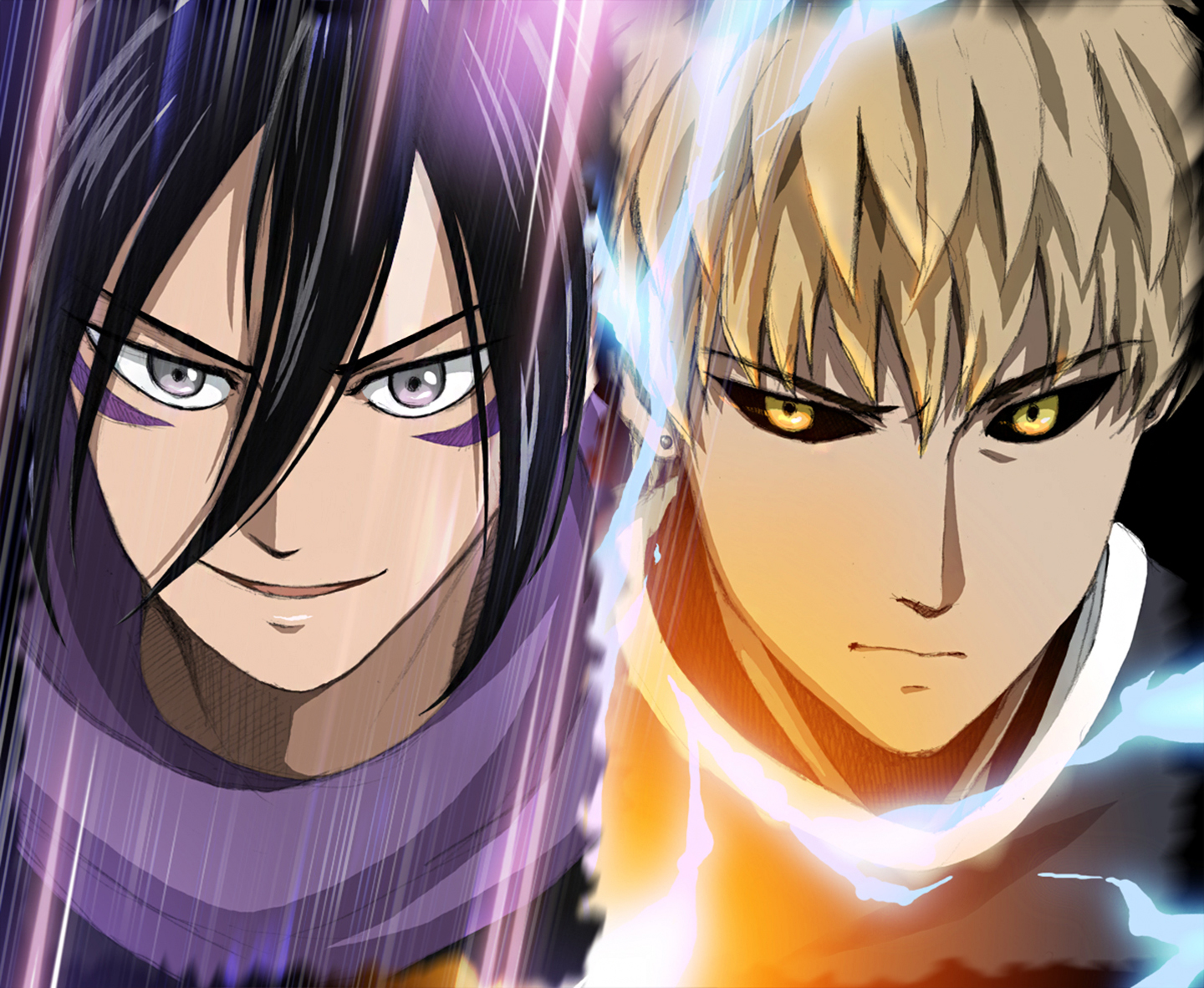 One Punch Man Wallpaper Iphone Sonic And Genos Wallpaper And Background Image 1440x1182