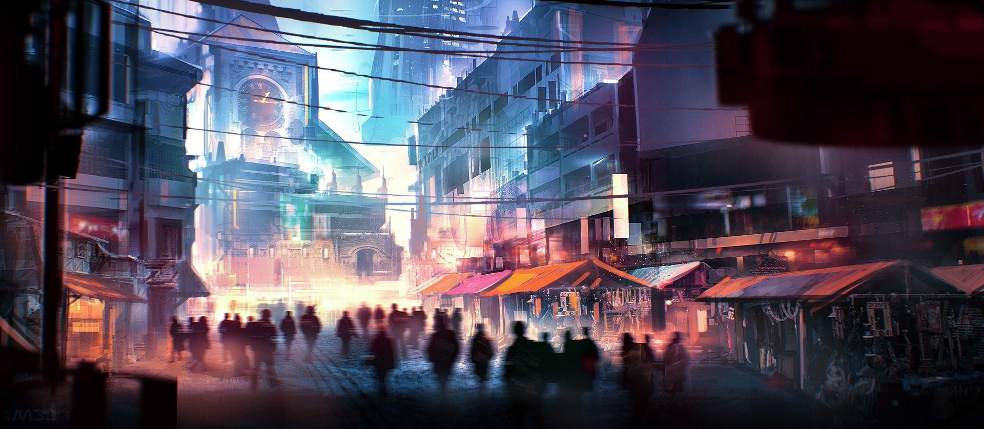 Hong Kong Iphone X Wallpaper Market Street Under The Clock Hd Wallpaper Background