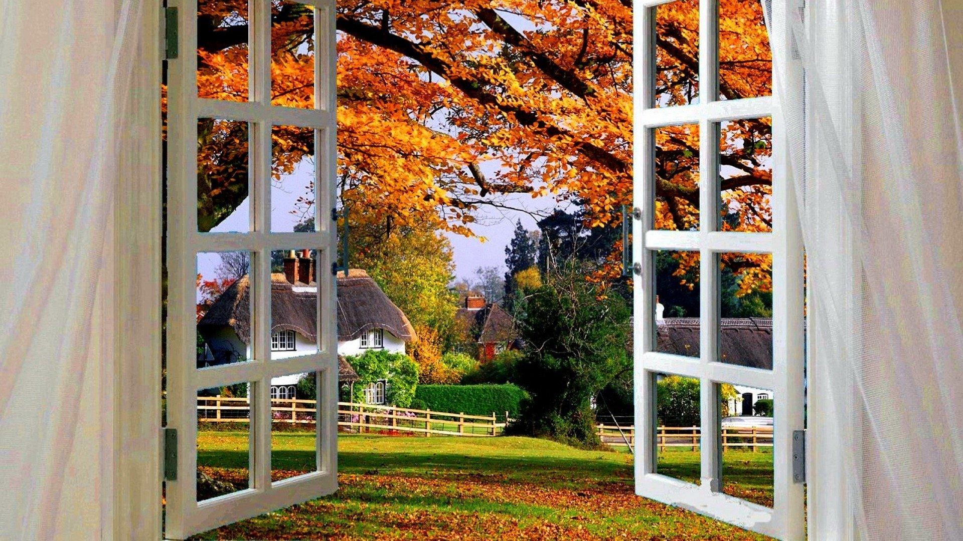 French Fall Wallpaper View On Autumn Day Fond D 233 Cran Hd Arri 232 Re Plan