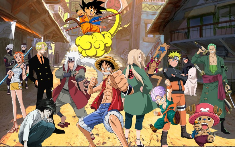 Crossover Full Hd Wallpaper And Background 2560x1600 Id 740539 Anime Collage