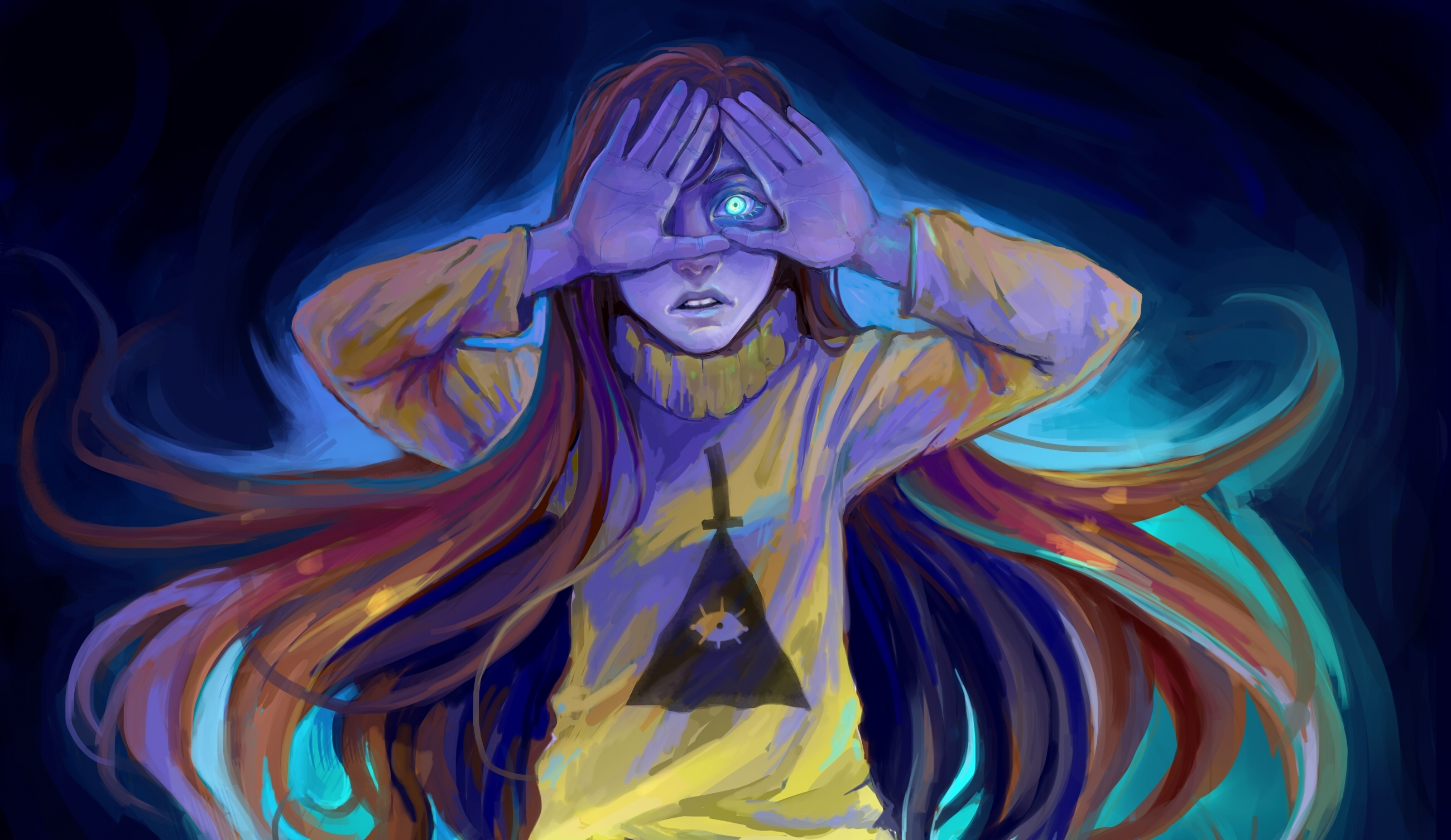 Gravity Falls Bill Cipher Wallpaper Hd Women Hd Wallpaper Background Image 2600x1506 Id