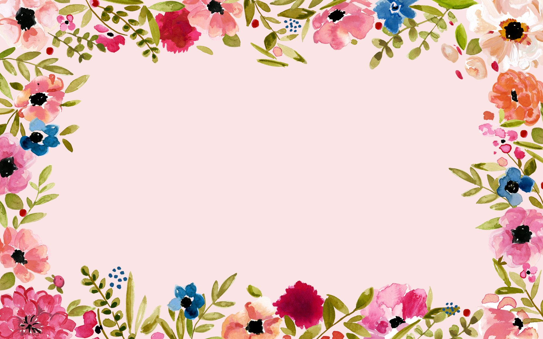 Floral Border Wallpaper and Background Image  1856x1161
