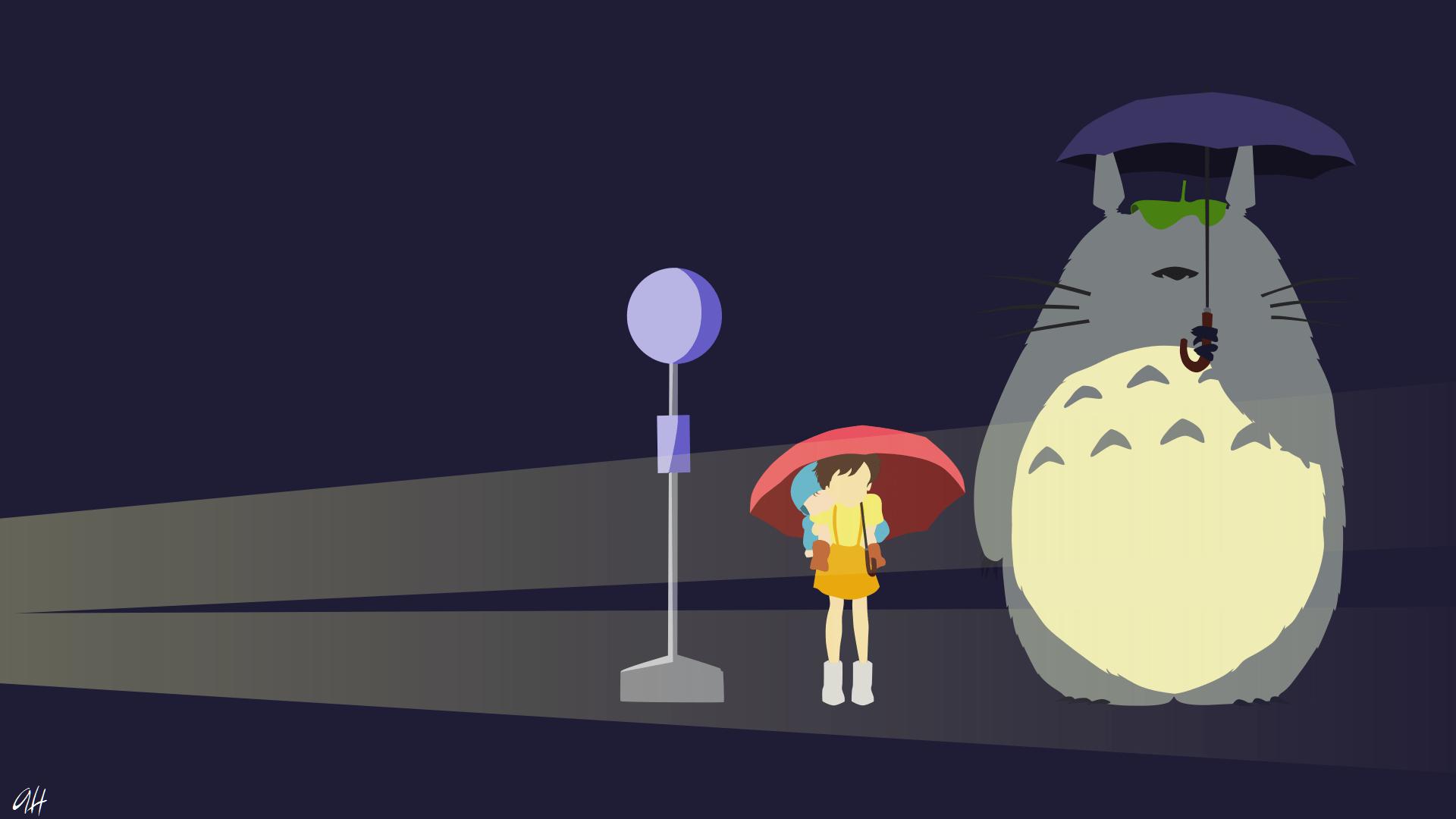 Stitch Cute Wallpaper For Computer My Neighbour Totoro Rain Scene Hd Wallpaper Background