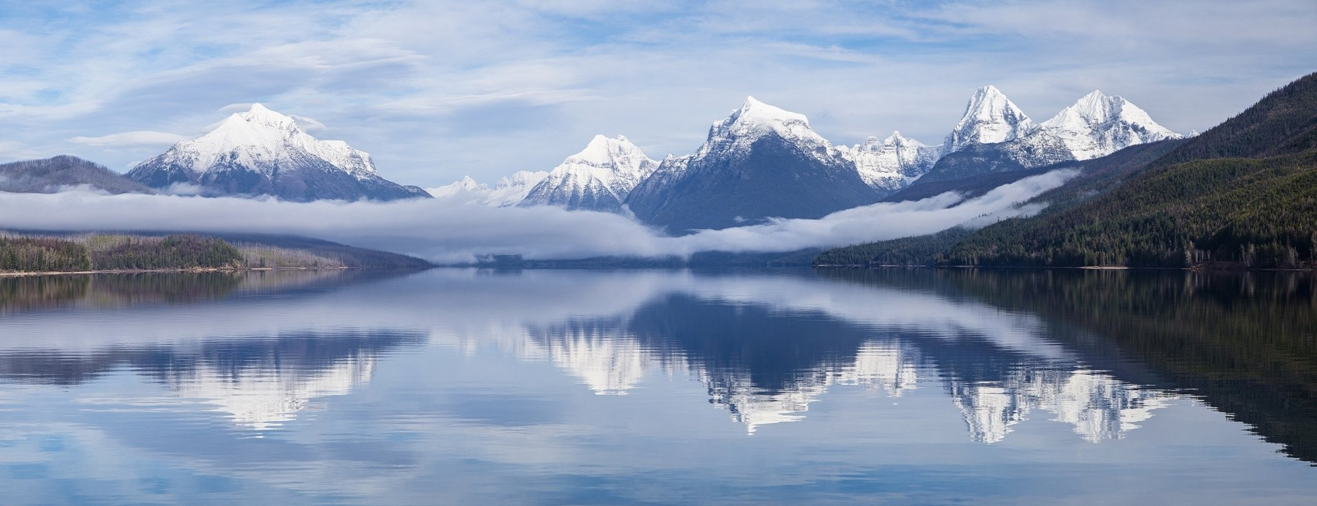 Iphone 5 Panorama Wallpaper Lake Mcdonald Glacier National Park Montana Usa Wallpaper