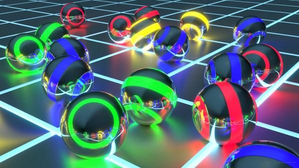 Cool Neon 3D Balls Wallpaper