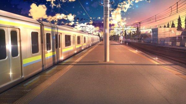 Anime Train Station