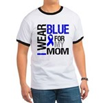 I Wear Blue Mom Ringer T