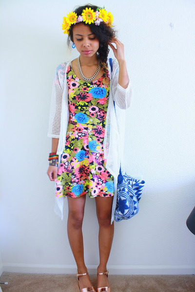Blue And White Floral Dress H M
