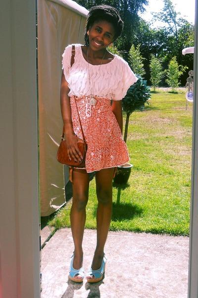 Orange Miss Selfridge Skirts Pink Primark Ts Shirts