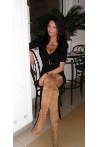 Gold Miss Sixty Necklaces, Tan Bershka Boots, Black Mayo