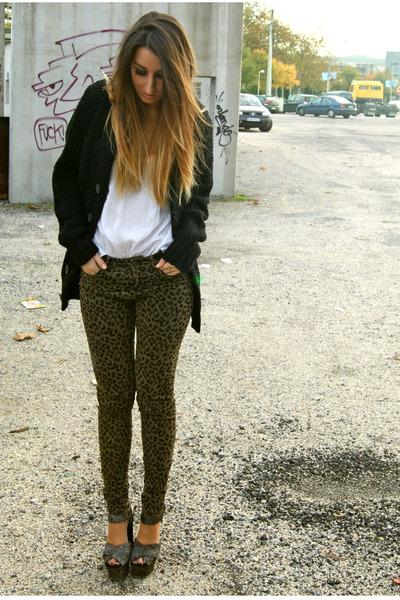 Army Green Zara Pants Charcoal Gray Topshop Shoes Black