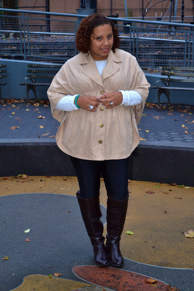 dijons cape - berkeley boots - Old Navy sweater - lola tights