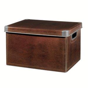 boite rangement deco decor cuir 125 l 25 l