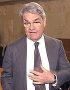 L'ex ministro Calogero Mannino (Ansa)