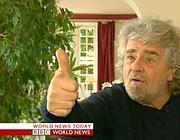 Beppe Grillo in un'intervista alla Bbc