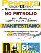 Il volantino della manifestazione di Pescara