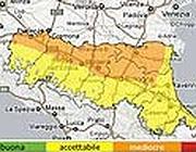 Le previsioni del pm10 in Emilia Romagna per il 7 febbraio 2012 (da arpa.emr.it)