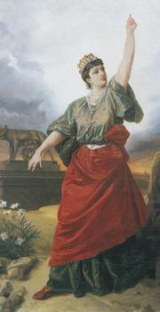 «Roma intangibile» è il titolo di questo dipinto di Antonio Muzzi (1815-1894) realizzato nel 1888 e conservato alla Pinacoteca nazionale di Bologna