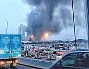Le fiamme a Vauxhall