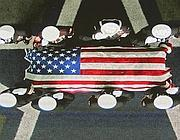 I funerali del navy seal Chris Kyle al Cowboys Stadium di Arlington, Texas