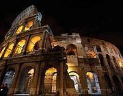 Il Colosseo di notte (Ansa)