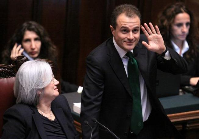 Rosi Bindi, vicepresidente della Camera, e il capogruppo della Lega,  Marco Reguzzoni (Photoviews)