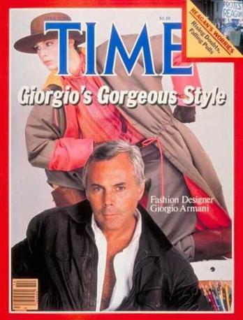 «Lo stile meraviglioso di Giorgio». Armani in copertina