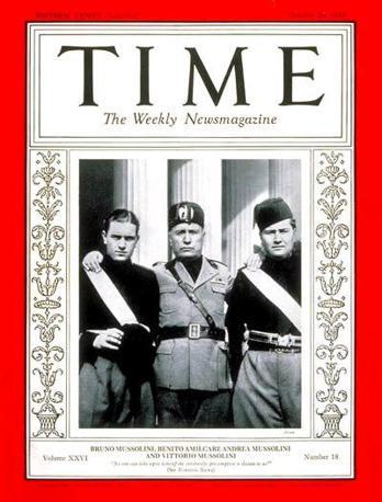 E ancora le tre copertine dedicate a Benito Mussolini