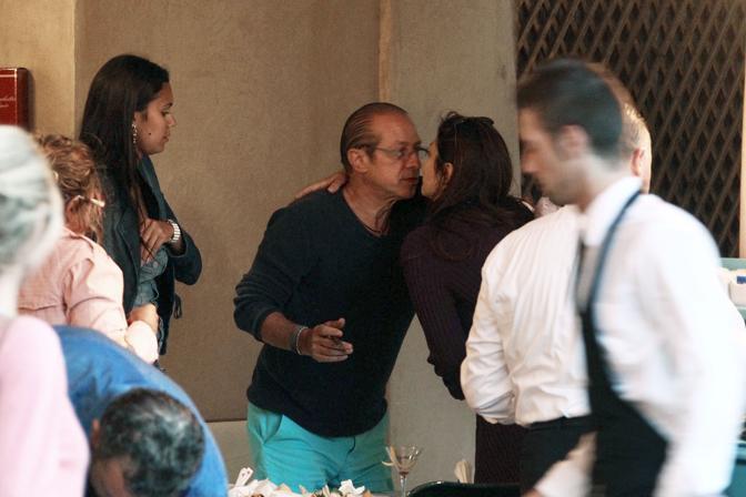 Paolo Berlusconi con Dani Samvis