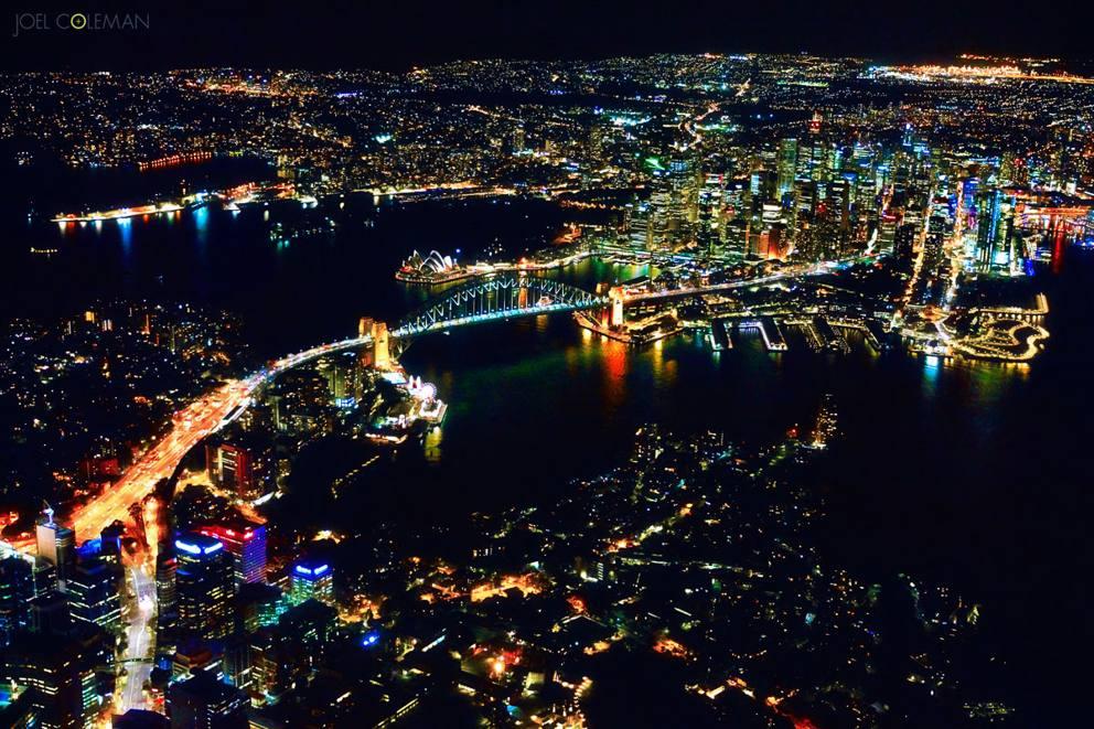 Sydney di notte le incredibili foto della citt vista da