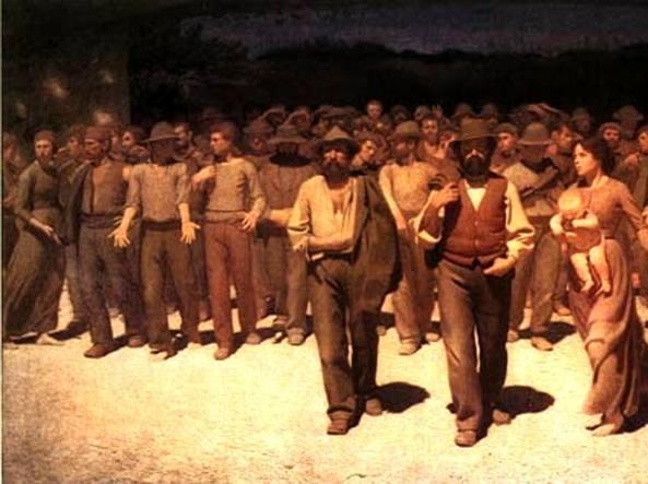 Il «Quarto Stato» realizzato da Giuseppe Pellizza da Volpedo nel 1901 e conservato al Museo del Novecento di Milano