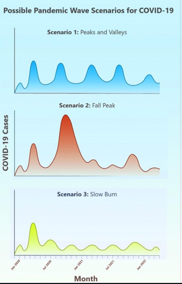 I tre scenari dell'evoluzione della pandemia Covid-19