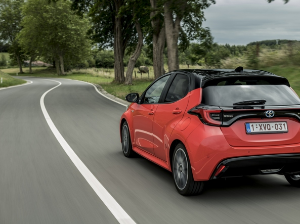 The new Yaris Hybrid MY20 on the roads of Belgium