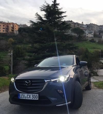 The Mazda CX-3 on the streets of Tolfa