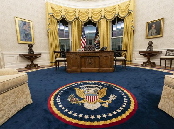 Il resolute desk (foto Ap/Alex Brandon)