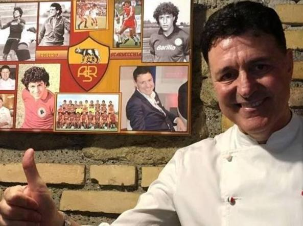 Scarnecchia nel suo ristorante di Roma