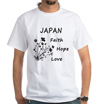Japan Faith and Hope White T-Shirt