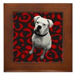DOG POP ART Framed Tile