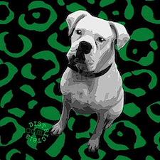 DOG POP ART Framed Tile